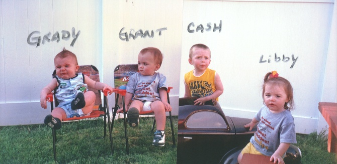 Grady, Grant, Cash, and Libby
